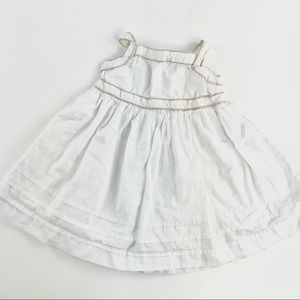 Baby Gap white & gold lined dress